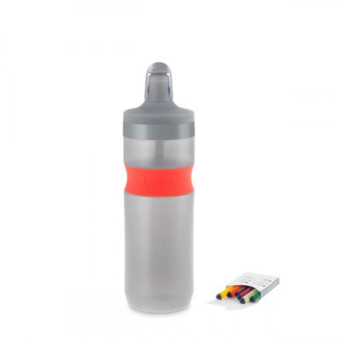 NUAPUA Sportflasche CORAL 0.65l inkl 6 Flavorkaps