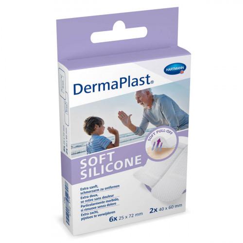 DERMAPLAST Soft Silicone Strips 8 Stk