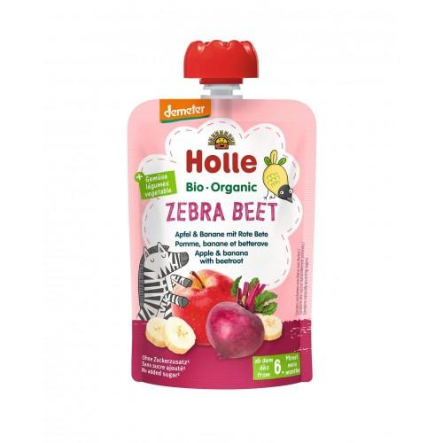 HOLLE Zebra Beet Pouchy Apfel Banane rote Beete 100 g