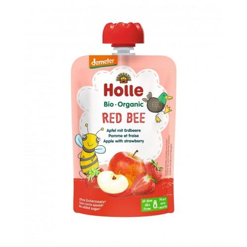 HOLLE Red Bee Pouchy Apfel Erdbeere 100 g