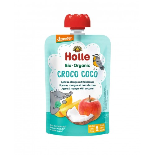HOLLE Croco Coco Pouchy Apfel Mango Kokosnuss 100 g