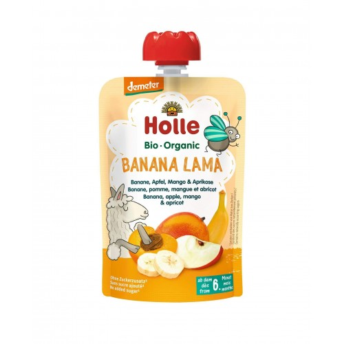 HOLLE Banana Lama Pouchy Bananen Apfel Mango Aprikose 100 g