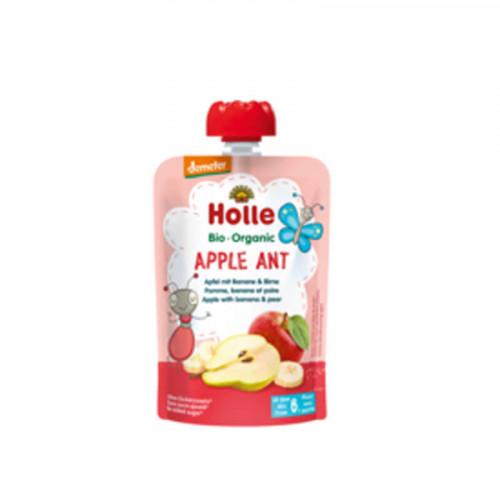 HOLLE Apple Ant Pouchy Apfel Banane Birne 100 g