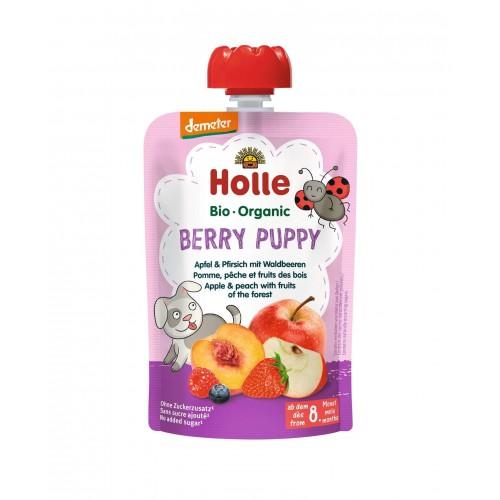 HOLLE Berry Puppy Pouchy Apfel Pfirsich Waldbeere 100 g