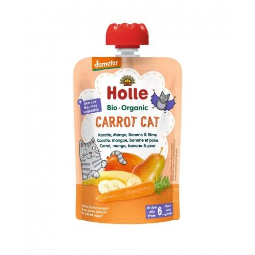 HOLLE Carrot Cat Pouchy Karotten Mango Bananen Birne 100 g
