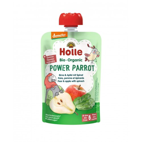 HOLLE Power Parrot Pouchy Birne Apfel Spinat 100 g
