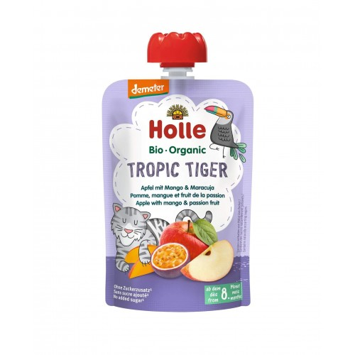HOLLE Tropic Tiger Pouchy Apfel Mango Maracuja 100 g