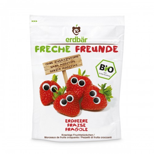 FRECHE FREUNDE Fruchtchips Erdbeere alt 12 g