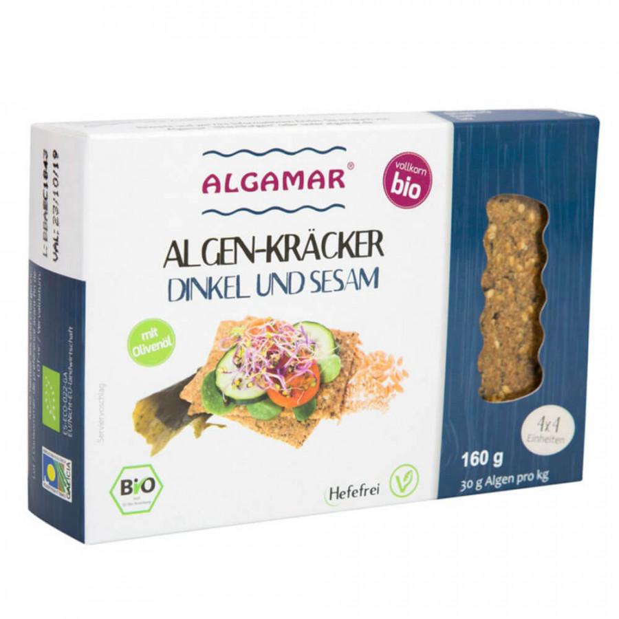 ALGAMAR Algen-Kräcker mit Dinkel und Sesam 160 g