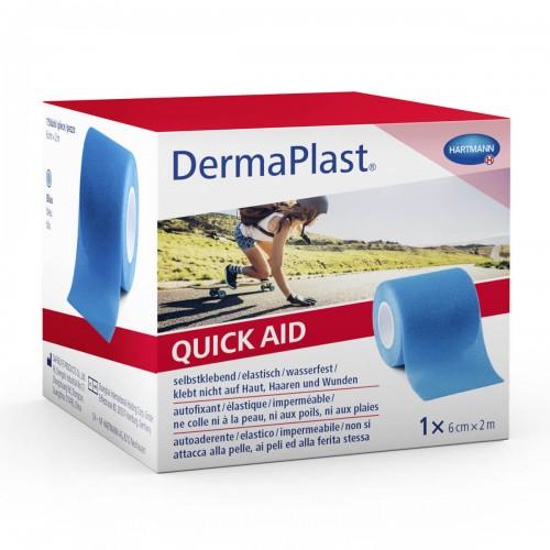 DERMAPLAST QuickAid 6cmx2m blau