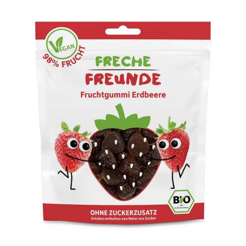 FRECHE FREUNDE Fruchtgummi Erdbeere Btl 30 g