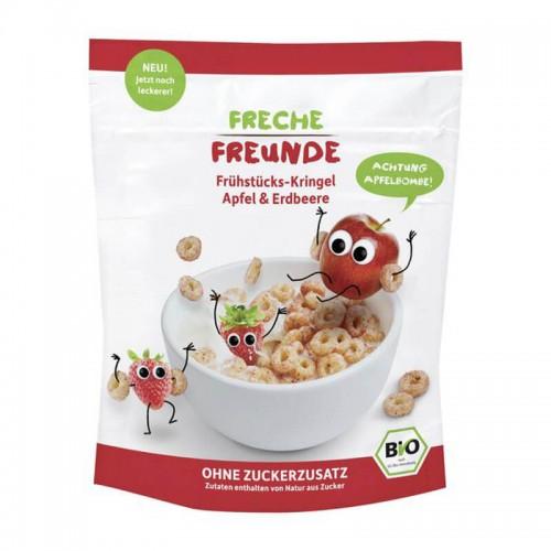 FRECHE FREUNDE Frühstücks-Kringel Apfel & Erdbeer 125 g