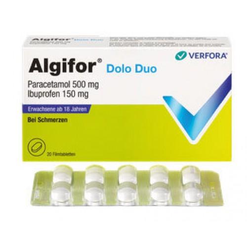 ALGIFOR Dolo Duo Filmtabletten 150 mg/500 mg 20 Stk