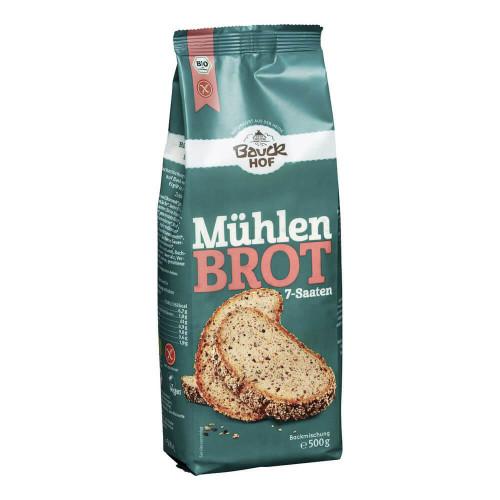 BAUCKHOF Mühlenbrot 7-Saaten glutenfrei 500 g