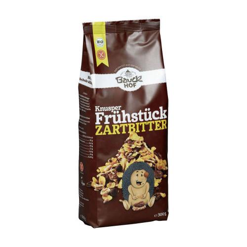 BAUCKHOF Knusper Frühstück Zartbitt glutenf 300 g