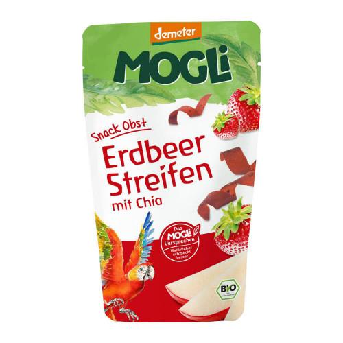 MOGLI Fruchtstreifen Erdbeer mit Chia Bio 25 g