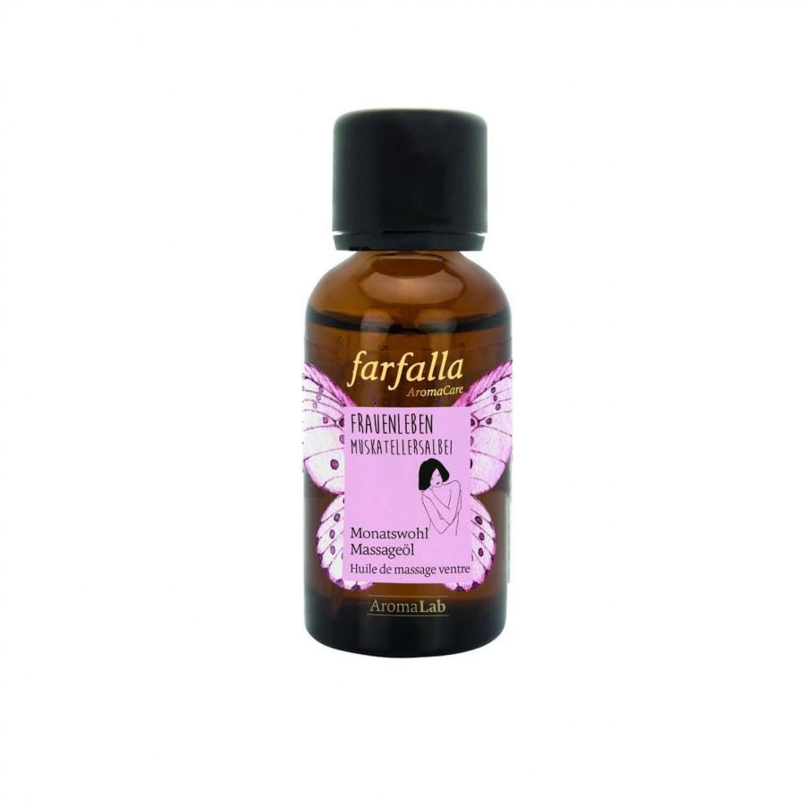 FARFALLA Monatswohl Massageöl Frauenleben Muskatellersalbei 30 ml