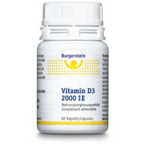BURGERSTEIN Vitamin D3 Kapseln 2000 IE Dose 60 Stk