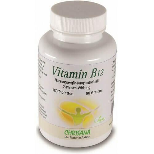 CHRISANA Vitamin B12 Tabl 500 mcg Ds 180 Stk