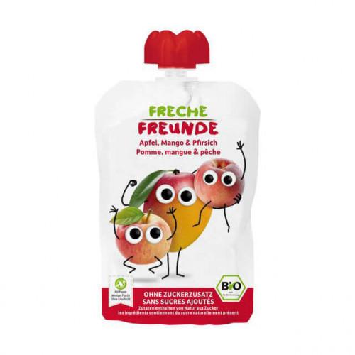 FRECHE FREUNDE Quetschmus Apfel Mango&Pfirs 100 g