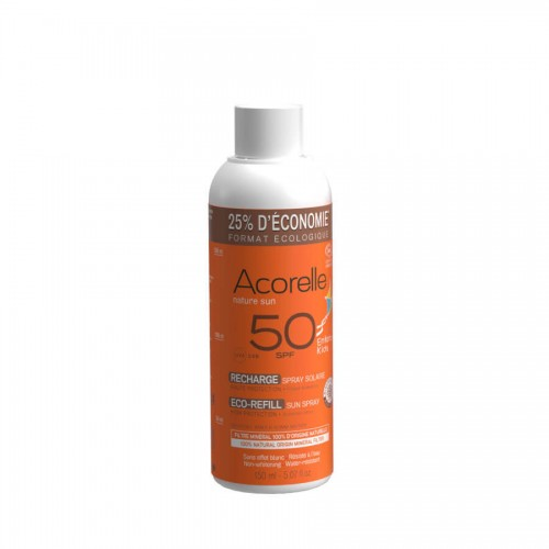 ACORELLE Sonnenspray Kinder LSF50 Refill 150 ml